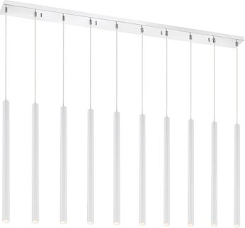 Z-Lite 917MP24-WH-LED-10LCH Forest Contemporary Matte White LED Multi Hanging Pendant Lighting