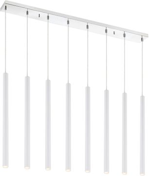 Z-Lite 917MP24-WH-LED-8LCH Forest Modern Matte White LED Multi Drop Lighting Fixture