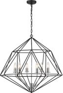 Z-Lite 918-30MB-CH Geo Modern Matte Black and Chrome Ceiling Chandelier