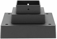 Z-Lite SQPM-BK Contemporary Black Exterior Post Mount