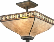 Z-Lite Z14-52SF Crimson Java Bronze Flush Ceiling Light Fixture