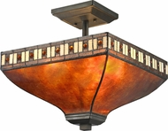 Z-Lite Z14-53SF Crimson Tiffany Java Bronze Ceiling Light Fixture