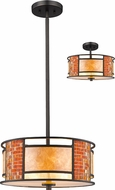 Z-Lite Z14-55P-C Parkwood Contemporary Bronze 14  Drum Lighting Pendant