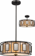 Z-Lite Z18-54P-C Lankin Contemporary Bronze 18  Drum Pendant Lamp