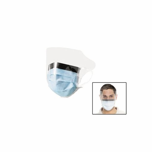 Disposable Face Mask with Antifog Shield