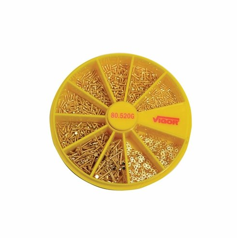 Gold Plated Stainless Screw Assortment