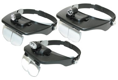 Headband Magnifiers with Light