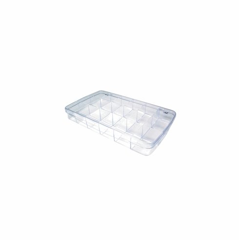 Plastic Storage Box with 18 Compartments