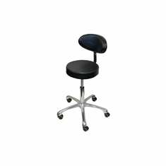 Pneumatic Stool w/ Padded Back Rest