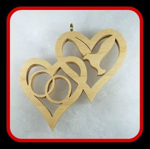 Hearts with Rings &Dove