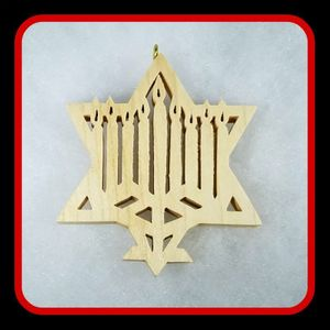 Menorah with Star of David