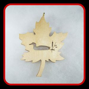 Maple Leaf with Loon