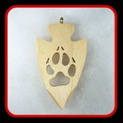Wolf print in Arrow Head