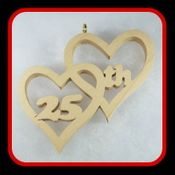 25th Anniversary Hearts