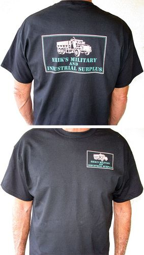 Black T-Shirt, Short Sleeve, With Front and Back Logo