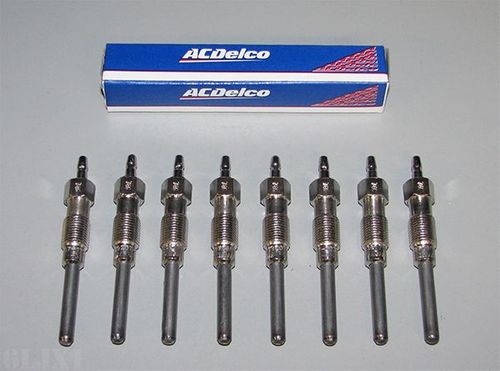 Glow Plug Set Of 8 For HMMWV, Made by ACDelco, 5614017 / AC15G