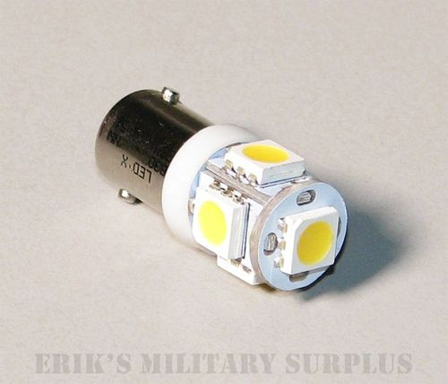 White LED Omnidirectional Bulb (28 Volt) Replaces 313 / 1829 (For Gauge Backlight / Use With Any Lens Color), 12460228-1NW