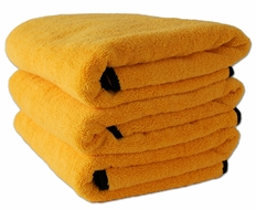 3 Pack Cobra Gold Plush Microfiber Towel, 16 x 24 inches