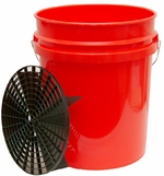 5 Gallon Professional Wash Bucket with Grit Guard  <font color=red>Available in red, clear and black.</font><font color=red> <strong> ON SALE! </strong> </font>
