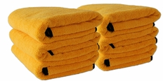 6 Pack Cobra Gold Plush XL Microfiber Towels, 25 x 36 inches