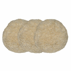 8.5 inch 4 Ply 100% Twisted Wool Compounding Pad (3 Pack)