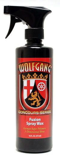 <font color=red>FREE Gift on Orders Over $125</font> <br>Wolfgang Fuzion Spray Wax 16 oz.