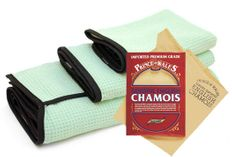 Genuine Leather Chamois & Microfiber Drying Towels