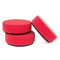 Griots Garage 3 Inch Mini Red Wax Pad 3 Pack