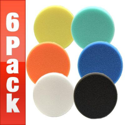 Lake Country 6.5 FLAT Pads 6 Pack - Choose your own pads!