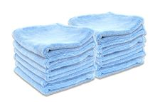Super Soft Deluxe Microfiber Towels with Rolled Edges, 12 Pack