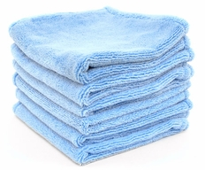 Super Soft Deluxe Microfiber Towels with Rolled Edges, 6 Pack
