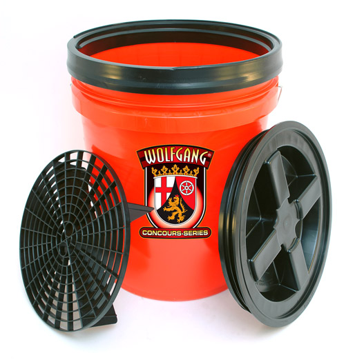 Wolfgang 5 Gallon Wash Bucket Combo -  Available in red, clear and black.