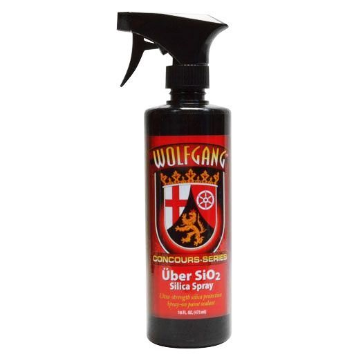Wolfgang Uber SiO2 Silica Spray will last longer than most SiO2 products, extending your water beading protection!