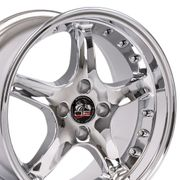 "17"" Fits Ford� Mustang� 4-Lug Cobra R Deep Dish Wheels - Chrome 17x8 SET"