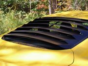 2015-2019 Mustang Coupe Rear Window Louvers Aluminum