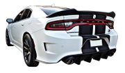 2015-2021 Dodge Charger Custom Hellcat Large Spoiler   ABS