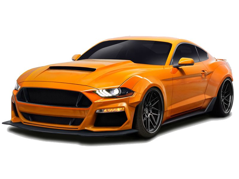 2018 2019 ford mustang duraflex grid wide body kit 12 piece ground effects. Black Bedroom Furniture Sets. Home Design Ideas