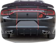 Dodge Charger R/T Rear Diffuser 2015-2019 Carbon Fiber Fits SXT