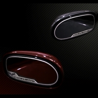 Corvette Sideview Mirror Trim Pair Stainless Steel (with Auto Dim Rearview) : 2005-2013 C6,Z06,ZR1,Grand Sport