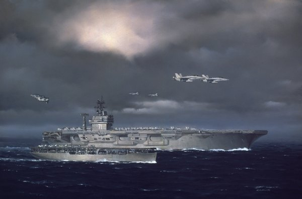 75 Years of Naval Aviation <br> USS Langley and USS Roosevelt<br>