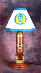 <big><big><center>Original 8th Air Force Trench Art Lamp</big></center>