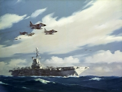 A-4s Over USS Ticonderoga<br>