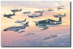 "A SALUTE TO NAVY and MARINE ACES </b><b style= ""color: red;font-weight:bold,"">   NEW </B> by ROY GRINNELL"