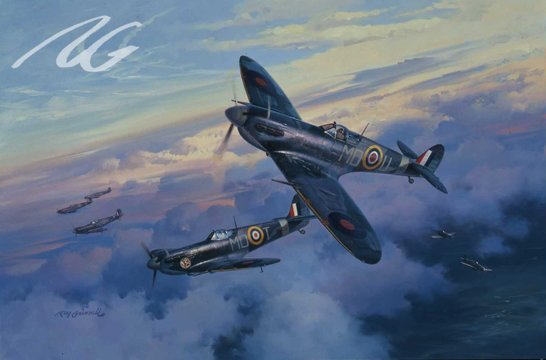A Vanguard of Eagles<br>By Roy Grinnell<br>Signed by 11 Eagle Squadron Pilots<br>