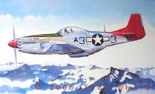 "Above The Alps by Troy White <br>  <b style=""color:red;font-weight: bold;"">    TUSKEGEE AIRMEN</b>"