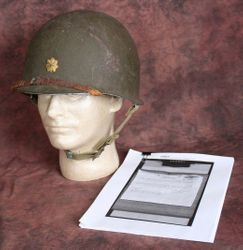 <big><big><center>�OPERATION OVERLORD� <br>Adjutant General A.J. Strehlow Personal Helmet</big></center>