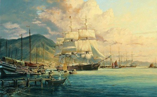 American Clipper Flying Cloud<br> By Robert Taylor<br>Giclee Canvas <br>