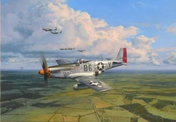 AMERICAN EAGLES  by ROBERT TAYLOR - Signed by three 357th FG Pilots