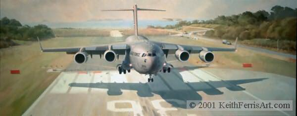 ANYTHING, ANYWHERE, ANYTIME by KEITH FERRIS - C-17 Globemaster