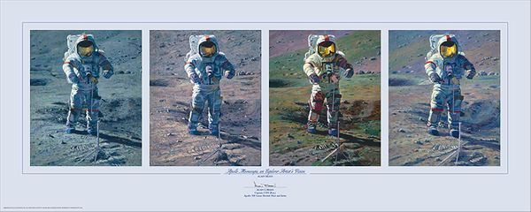 Apollo Moonscape, An Explorer Artists View<br> By Alan Bean<br>